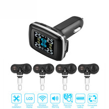 TP620 2 types Real Time Digital Tire Pressure Monitoring System Professional Wireless Smart TPMS Tire Pressure Alarm Car Charger(China)