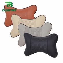 KUNFINE 1PC or 2PCS Pillow Car Headrest Breathe Car Auto Seat Head Neck Rest Cushion Headrest Pillow Pad black brown beige gray(China)