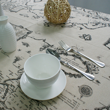 Table Cloth World Map High Quality Lace Tablecloth Decorative Elegant Table Cloth Linen Table Cover