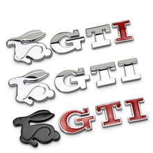 Devil Evil Rabbit Badge GTI Letters Chrome Metal Emblem Refitting Car Styling Trunk Sticker Decoration for VW Jetta CC Sagitar