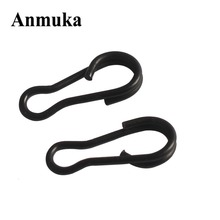 Anmuka 50pcs/lot Stainless Steel Carp Fishing Tackle Multi-clips Snap Matt Black Color Lure Connector Fishing Accessories Snap(China)
