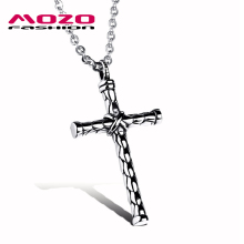 Wholesale 2016 New Fashion Men's Jewelry Silver Cross Chain Stainless Steel Pendants & Necklaces Man Vintage Accessories MGX973