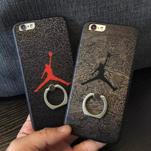 Hot sale For iphone7 Jordan case dunking basketball new design Cell phone case Relief printing with ring stand support