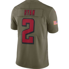 Men's atlanta Julio Jones Devonta Freeman Matt Ryan falcons Olive Salute To Service Limited Jersey(China)