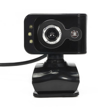 360 Degree 20MP 3 LED HD Camera USB 2.0 PC Webcam Camera w Microphone MIC Night Vision for Computer PC Laptop MSN