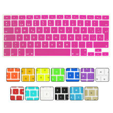 14 Colors EU Spanish Language Letter Silicone Keyboard Cover Sticker for Macbook Air 13 Pro 13 15 17 Retina Sticker Film