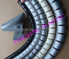 1.5M/bag 25mm new spiral wrapping bands with clamp wire cable black color(China)