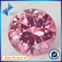 50pcs 5A 0.8-6.0mm Pink Color Loose Cubic Zirconia CZ Stone Round Shape European Machine Cut Synthetic Gemstone