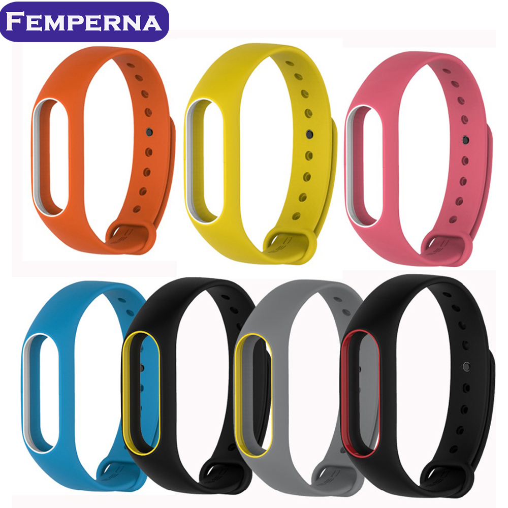 Newest Replace Strap for Xiaomi Mi Band 2 MiBand 2 Silicone Wristbands Colorful Double Color Smart Bracelet for Xiomi Mi Band 2<br><br>Aliexpress