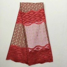 wedding tulle lace African handcut embroidery french net lace fabric 5 yards per piece guipure lace fabric 208 25