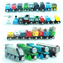 5pcs/lot Thomas and His Friends Kids Wooden Toy Cartoon Magnetic Trains Model Great Kids Christmas Toys Gifts for Children(China)