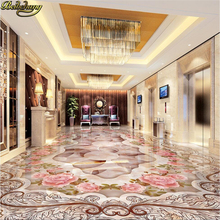 beibehang Custom Photo Wallpaper Floor Painting High End European Style Scene Sample Aisle Elevator 3D renderings