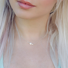 Fashion Tiny sideways Gold silver Cross Necklace  pendant  solid small gold  Cross choker Necklace Jewelry  For Women Jewelry