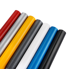 30cmX152cm Waterproof 4D Car Stickers Car Styling 3M 4D Motorcycle Car Carbon Fiber Vinyl Wrapping Film With Air free bubbles