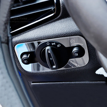Car headlight switch decoration paillette headlight conversion switch trim For Ford Ecosport Fiesta