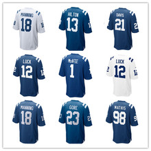 Youth's Peyton Manning T.Y. Hilton Malik Hooker Pat McAfee Andrew Luck Frank Gore Vontae Davis Donte Moncrief Custom Jersey(China)