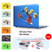 3D Print Case For Laptop Macbook Air 13 Cute Minions Movie Poster Cover Mac Pro Retina 12 Pro 13.3 Pro 15 Air 11 Crystal Shell(China)