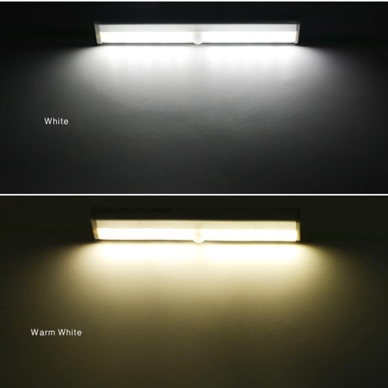 IR Motion Sensor LED Night Light lamp with motion sensor 10 LEDs Wardrobe Cabinet Light Bathroom Stairs Basement Night Lamp