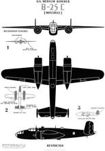 "U.S. Medium Bomber B-25C ""Mitchell"" WWII WW2 Poster Vintage Retro Decorative DIY Wall Stickers Home Posters Art Bar Decor"