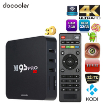 M9S-PRO Android 7.1 TV Box KODI 16.0 Full Loaded Amlogic S905X Quad Core 3G 32G 4K TV Box WiFi BT4.0 Wireless Keyboard Optional(China)