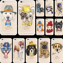 5 5S SE Top Popular Pattern Pet Dog Silicon Phone Cover Cases For Apple iPhone 5 iPhone 5S iPhone5S Case Shell Cute Lovely Best(China)