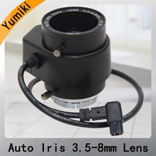 Yumiki Varifocal Lens Auto IRIS CCTV Lens 3.5-8.0 MM F 1.4-64 CS lens for Box Security Camera zoom Lens for Surveillance camera(China)