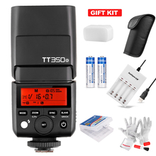 with Battery Godox TT350O Mini Speedlite Camera Flash TTL HSS GN36 1/8000S Charger for Olympus/Panasonic Mirrorless DSLR Camera