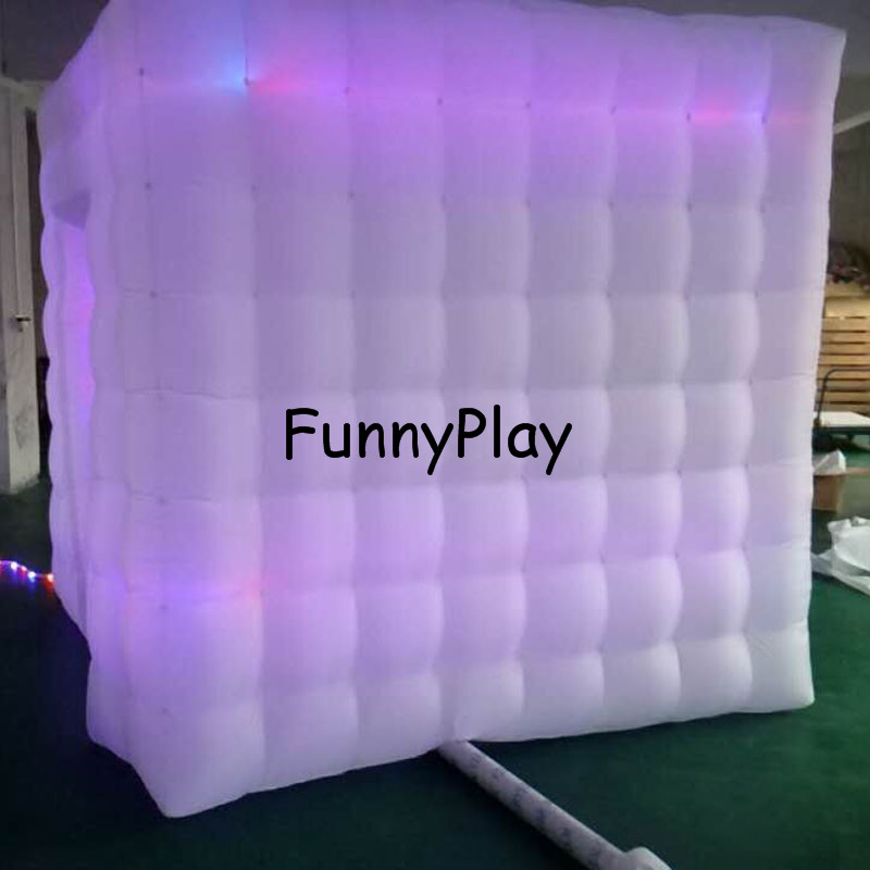 LED lighted inflatable photo booth