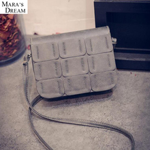 2017 New Brand Janpan and Korean Style Women's Flap Shoulder Bags PU Leather Thread Women's Crossbody Bags Elegant practical Bag