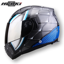 NENKI Motorcycle Helmet Full Face Moto Helmet Men Motorcycle Racing Helmet Scooter Summer Helmet Dual Visor Sun Shield Lens 830