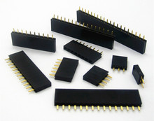 Pitch 2.54mm 2/3/4/5/6/7/8/9/10/11/12/13/14/15/16/20/40 Pin Stright Female Single Row Pin Header Strip PCB Connector