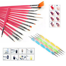 20PCS Nail Art Womens Design Dotting Painting Drawing Polish Brush Pen Tools Set For Makeup Accessories