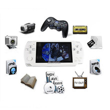 Hot sell 4.3 Inch Ultra-Thin Handheld Game Player Built-In 8G Memory Video Game Console MP5 Music Player White&black Color