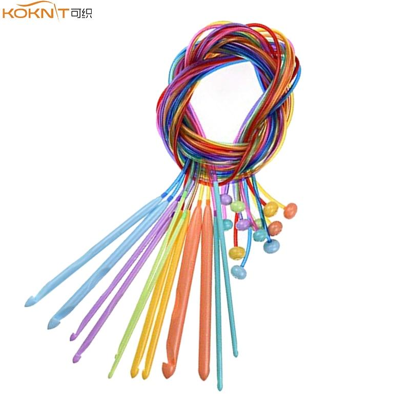 Aluminum Tunisian Afghan Weave Craft Crochet Hooks Needles for Knitting 7mm