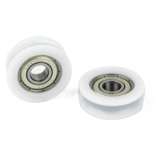 5pcs U Groove Nylon Ball Bearing Set Embedded 608 Guide Pulley 8x30x10mm For Furniture Accessories