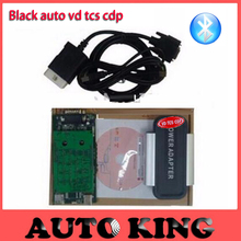 Discount! obd Diagnostic Tool vd Black TCS CDP pro with Bluetooth FOR multi CARS and TRUCKS 3in1 obd2 led cables free ship
