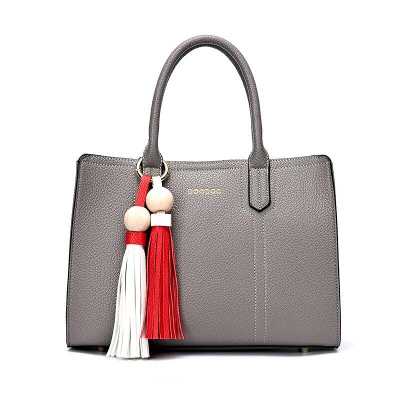 DOODOO Lady Real Leather Handbags Vintage Womens Bag Bolsa Femininas Famous Brands Designer Handbags High Quality Tote Bag T438<br><br>Aliexpress