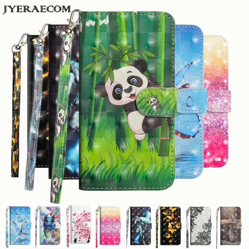 JYERAECOM Flip PU Leather + Wallet Cover Case For Coque Huawei P20 Lite / P20 Pro Y3 2017 Y5 Y6 2018 P smart Case