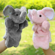 Pink Grey Elephant Hand Puppet Baby Kids Child Soft Hand Puppet Doll Plush Hand Puppets Toys Soft Plush Stuffed Interactive Toy