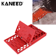 Car Traction Mat Foldable Auto Escaper Buddy Non-Slip Mats Winter Roads Instant Traction Tire Grip Set Snow Mud(China)