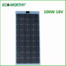 ECO DE Stock NO Duty No Tax 100W Semi Monocrystalline Flexible Solar Panels 100 Watt Portable Mono Solar Modules Free Shipping(China)