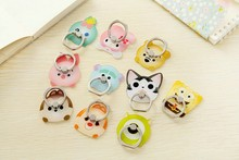 Cute Cartoon Finger Ring Holder Universal Rabbit Bear Cat Mobile Phone 3D Metal Stander Finger Grip for iPhone Samsung Xiaomi
