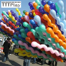 50pcs/lot 36 Inch Screw Thread Latex Balloon Inflatable Long Air Balls Wedding Decoration Baby Birthday Party Balloon Float Toys