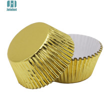 Hot 100 pcs/lot Pure Color Gold Paper Cupcake Liners Cupcake wrappers Cake Decorating Tools Baking Cups