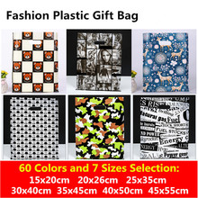 25x35 30x40 35x45 Supermarket Plastic Bags Clothes Packaging Gift Bags With Handles Cookies Storage Bag Jewelry Party Supplies(China)