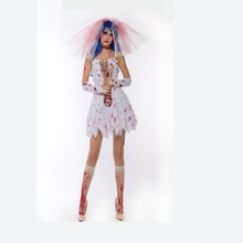 Halloween Cosplay Costumes Ghost Bride Costume For Women Adult Halloween Ghost Costume Fantasia Cosplay Fancy Dress