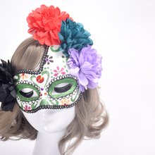 1PC Beautiful Lace Elegant Fancy Ball Party Masks Halloween Venice Half Face Flower Mask Princess Masquerade Masks P15(China)
