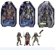 "Hot Sale Predator VS Alien AVP Series 17 Serpent Hunter Alien Head Elder Predator Youngblood 7"" NECA Action Figure"