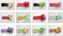 korker Hair clip bows  Waffle Crochet headband girl corker hair bands Christening Woven headband 20pcs  PD011