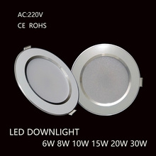 Led Downlights 6W 8W 10W 15W 20W 30W 220V LED Ceiling Downlight 2835 Lamps Led Ceiling Lamp Home Indoor Lighting(China)